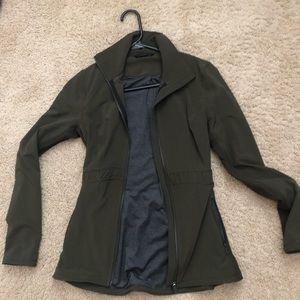 Lululemon green zip up jacket size 4
